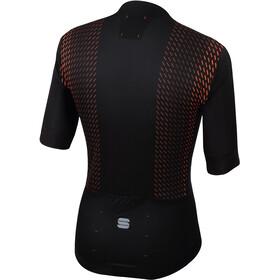 Sportful R&D Celsius Maillot de cyclisme Homme, black/orange sdr